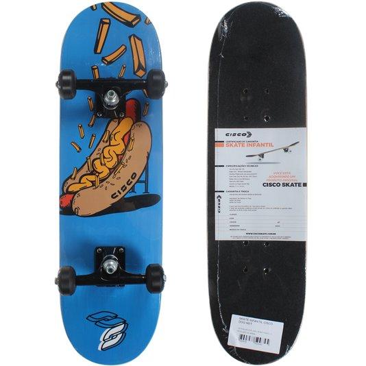 Skate Cisco Infantil Dog Hot Preto/Azul