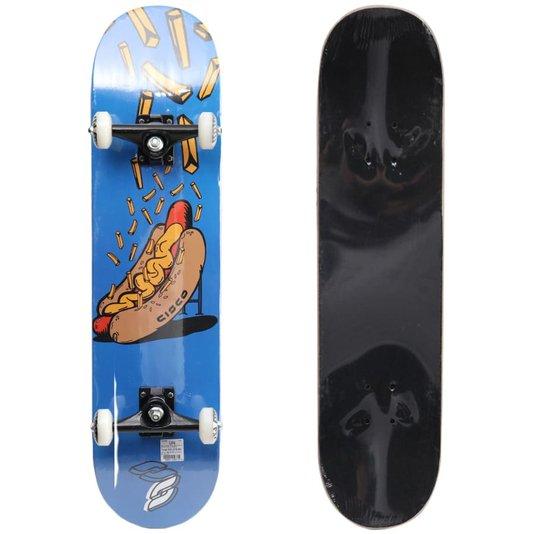 Skate Montado Cisco Pro Dog Hot Azul/Laranja