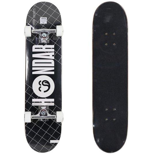 Skate Montado Hondar Iniciante Logo Prata/Branco