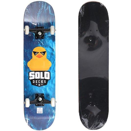 Skate Montado Solo Pro Duck Azul/Amarelo