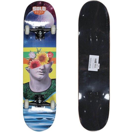 Skate Montado Solo Pro Serie Colagem Azul/Amarelo