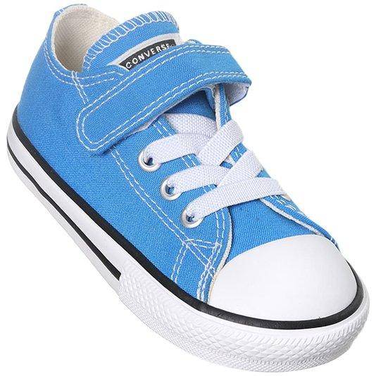 Tênis Converse Chuck Taylor All Star 1v Infantil Azul Digital/Preto/Branco