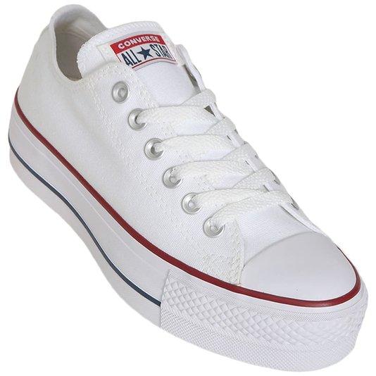 Tênis Converse Chuck Taylor All Star Lift Plataforma Branco/Vermelho/Azul