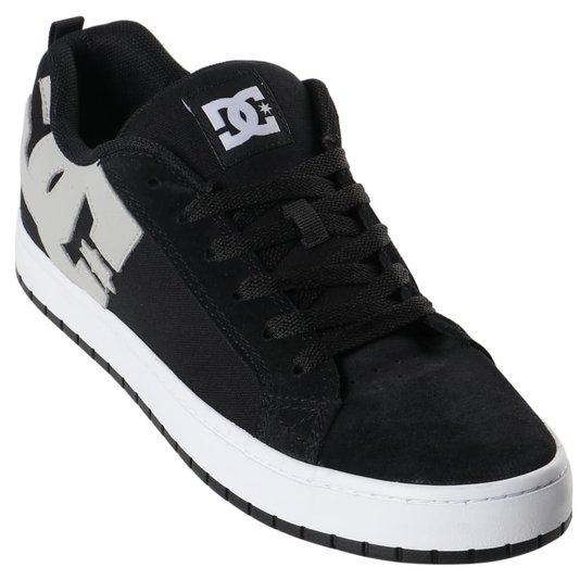 Tênis Dc Shoes Court Graffik Tx Preto/Cinza/Branco