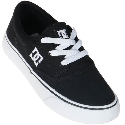 Tênis DC Shoes Flash 2 TX La Infantil Preto/Branco