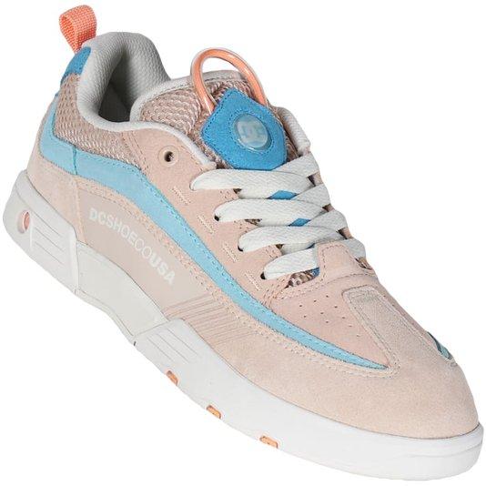 Tenis Dc Shoes Legacy 98 Slim Se Rose/Azul Claro