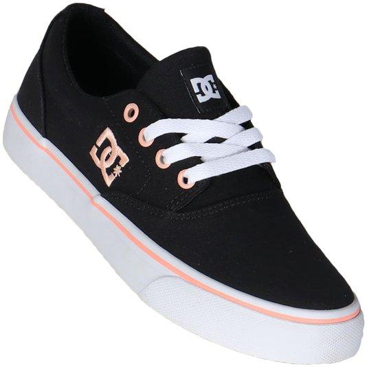 Tenis Dc Shoes New Flash 2 Tx Preto/Branco/Salmao