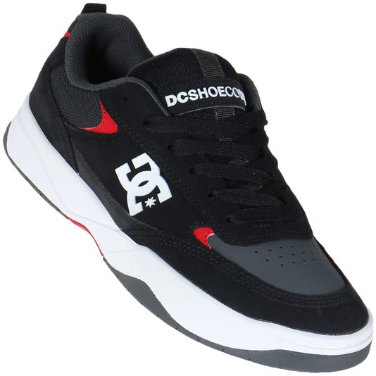 Tenis Dc Shoes Penza Imp Preto/Cinza/Vermelho