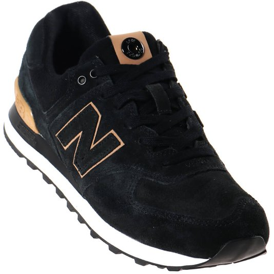Tênis New Balance Classic 574 Preto/Marrom