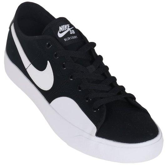 Tênis Nike Sb Blazer Court Preto/Branco