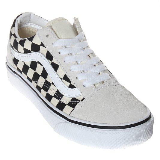 Tênis Vans Old Skool Checkboard Branco/Preto