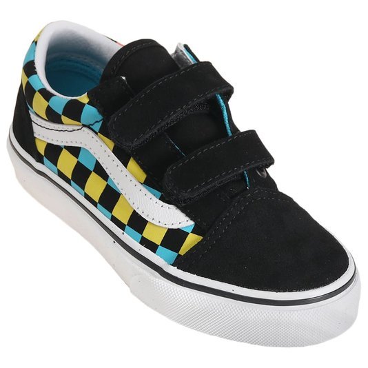 Tênis Vans Old Skool V Neon Glow Juvenil Colorido