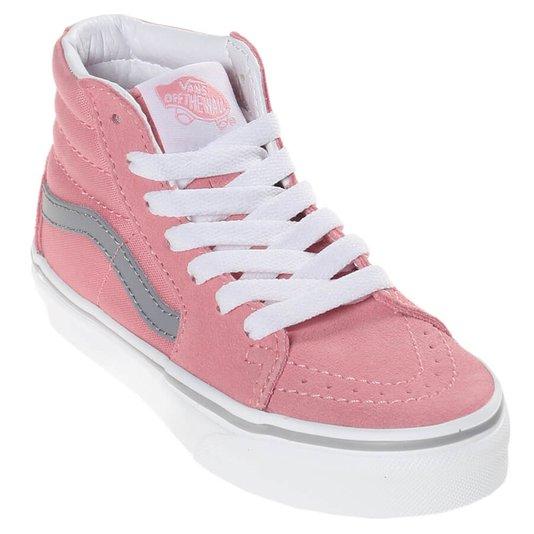Tenis Vans Sk8-Hi Pop Juvenil Rosa/Cinza