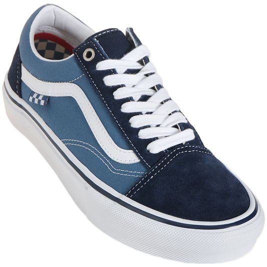 Tenis Vans Skate Old Skool Azul Marinho/Branco