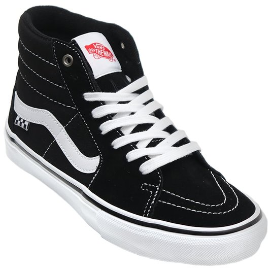 Tênis Vans Skate Sk8-Hi Preto/Branco
