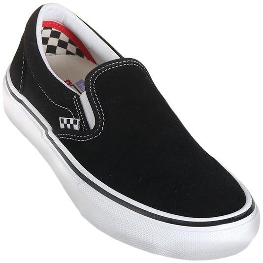 Tenis Vans Skate Slip-On Preto/Branco