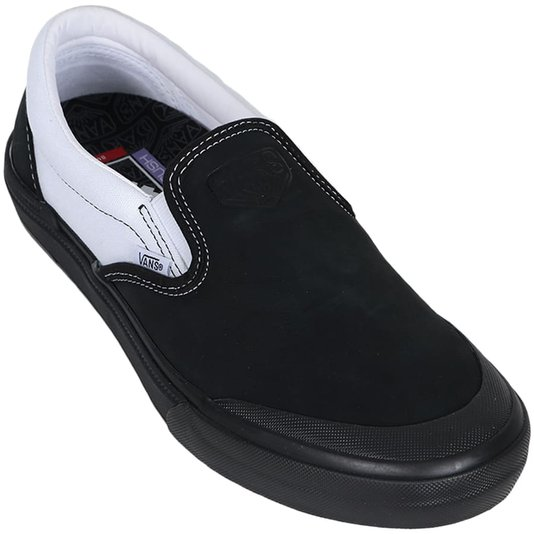 Tênis Vans Slip-On Bmx Dak Preto/Branco