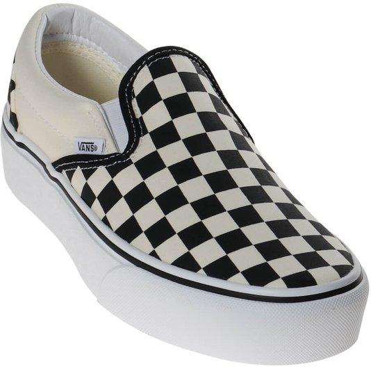 Tênis Vans Slip-On Plataforma Checkerboard Xadrez