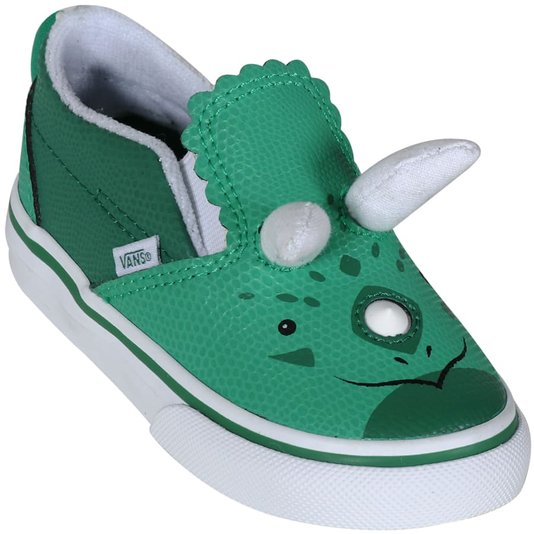 Tênis Vans Slip-On Triceratops Verde/Branco