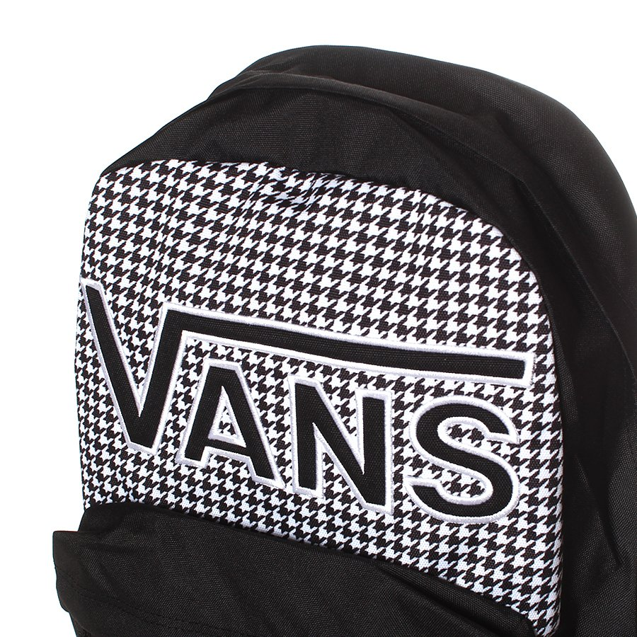 c66faef6c3dbc Mochila Vans Realm Flying Preto Branco - Rock City