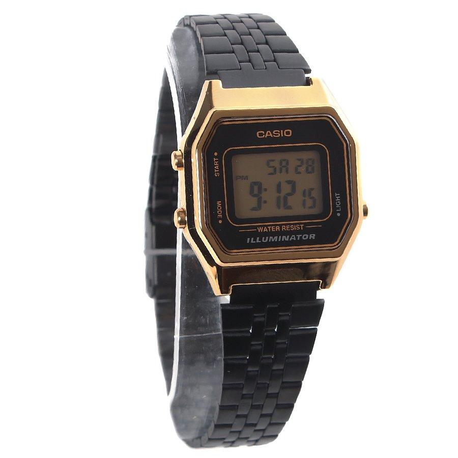 4f4ff318f41 Relógio Casio Vintage LA680WEGB-1ADF Dourado Preto - Rock City