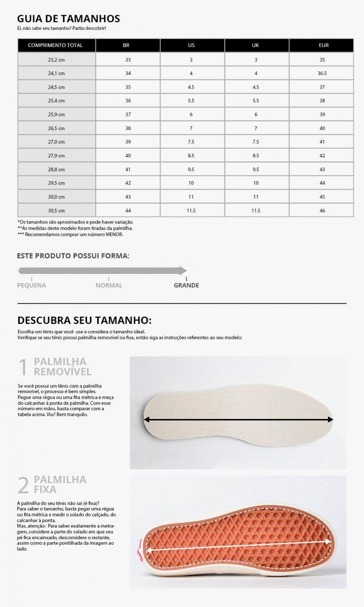 Tênis Vans Sk8-Low Preto/Branco