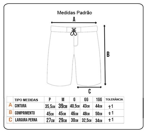 Bermuda Rock City Shorts Camuflado Summer 21 Preto/Cinza