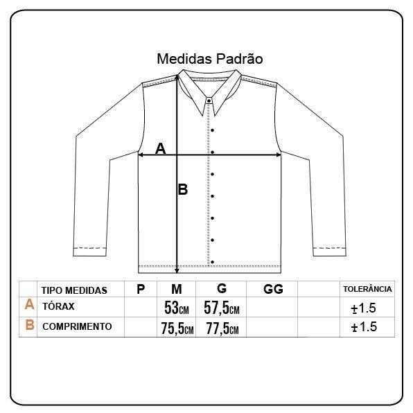 Camisa Volcom Vert Tone Imp M/L Preto/Branco