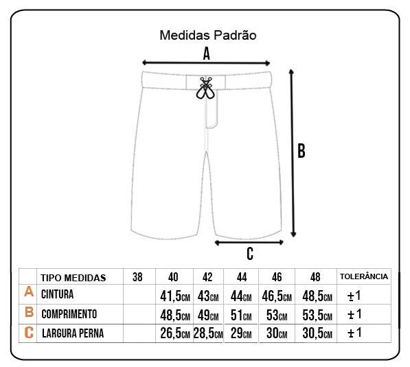 Bermuda Rock City Boardshort Basic Cinza/Preto