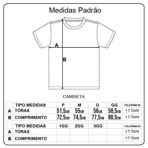 Camiseta Grizzly Pattern Fill Preto