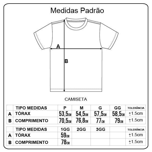 Camiseta Rock City Army Attitude Inc. Preto/Branco
