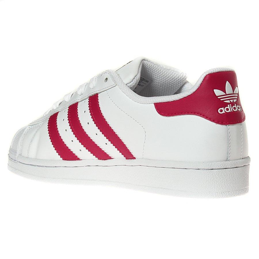 90e58aed4f8 Tênis Adidas Superstar Foundation J Branco Rosa - Rock City