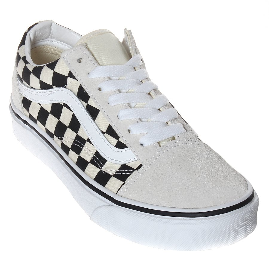 7419341572de0 Tênis Vans Old Skool Checkboard Branco Preto - Rock City