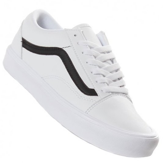 7e24f5c163828 Tênis Vans Old Skool Lite Branco Preto - Rock City