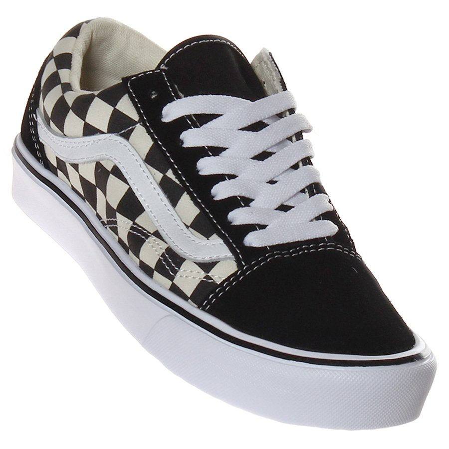 c31643d036 Tênis Vans old Skool Lite Checkboard Preto Branco - Rock City