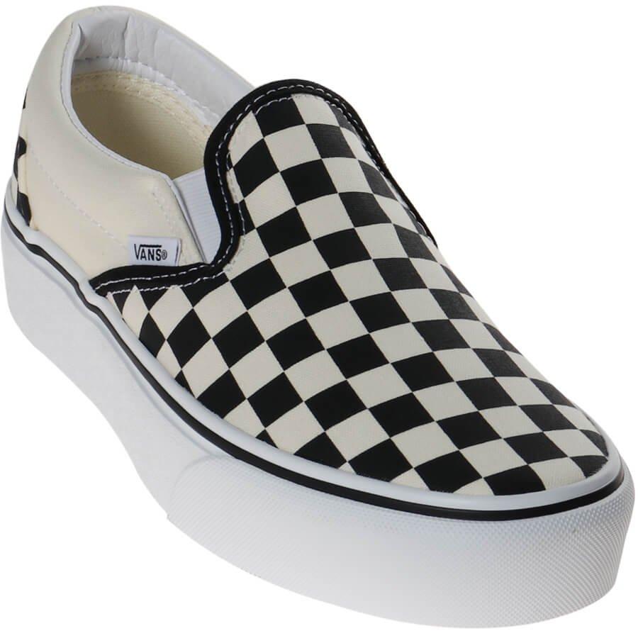 Fascinante Marcha atrás Precaución  Tênis Vans Slip-On Plataforma Checkerboard Xadrez - Rock City