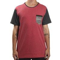 Camiseta Rip Curl Abstract Pocket Vermelho Mescla