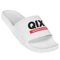 Chinelo Qix Internacional Branco/Preto/Vermelho