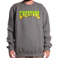 Moletom Creature Logo Crew Mescla Escuro
