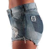 Shorts Rip Curl Go Out Destroyed Azul Jeans