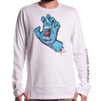 Camiseta Santa Cruz M/L Screaming Hand Branco