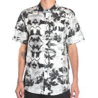 Camisa Globe Manga Curta Coqueiro Branco/Cinza