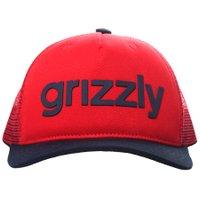 Boné Grizzly Trucker Lowcase Vermelho