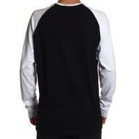 Camiseta HD Raglan Skull Preto/Branco