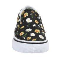 Tênis Vans Slip-On Infantil Daisy Preto
