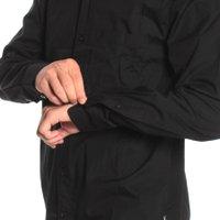 Camisa Volcom Ml Everett Preto