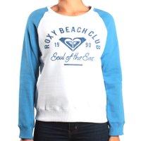 Moletom Roxy Careca Beach Club Branco/Azul