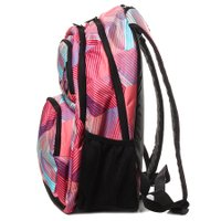 Mochila Roxy Shadow Dream Neon Apefruit Preto/Rosa/Azul