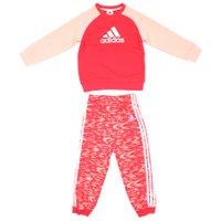 Conjunto Agasalho Adidas ST Terry Jogg INF Vemelho/Rose