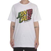Camiseta Santa Cruz Rasta Stack Branco
